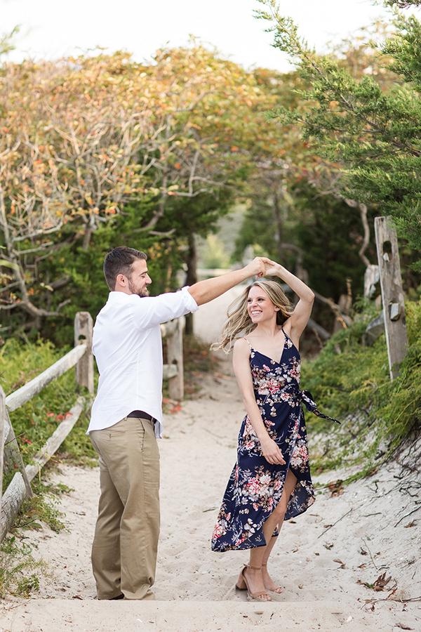 NJ Beach Engagement Photos