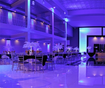 The Brookside Ballroom with Uplighting