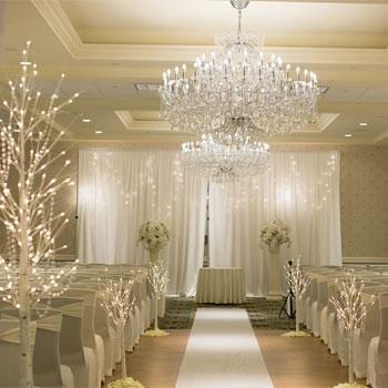 The Crystal Ballroom Indoor Ceremony