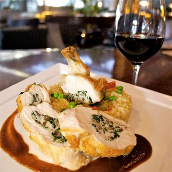 Raven and The Peach - Chicken stuffed with black truffles