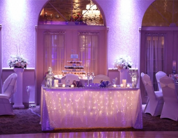 Versailles Ballroom at The Ramada Toms River Head Table
