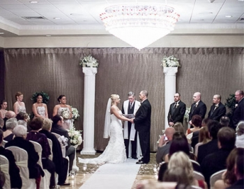 Versailles Ballroom at The Ramada Toms River Indoor Ceremony