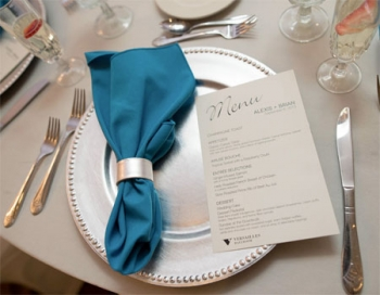 Versailles Ballroom at The Ramada Toms River Place Setting