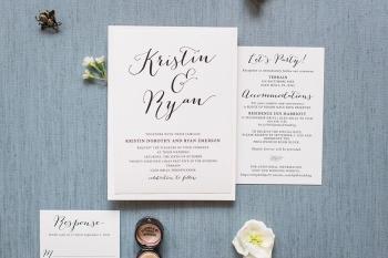 Typography wedding invitations