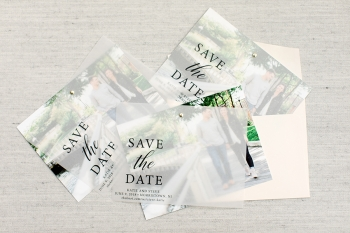 Vellum overlay save the dates