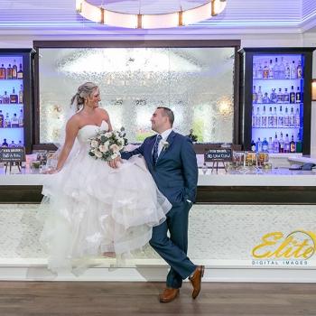 Crystal Point Yacht Club NJ Wedding Bride and Groom