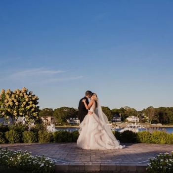 Crystal Point Yacht Club NJ Outdoor Wedding Ceremony